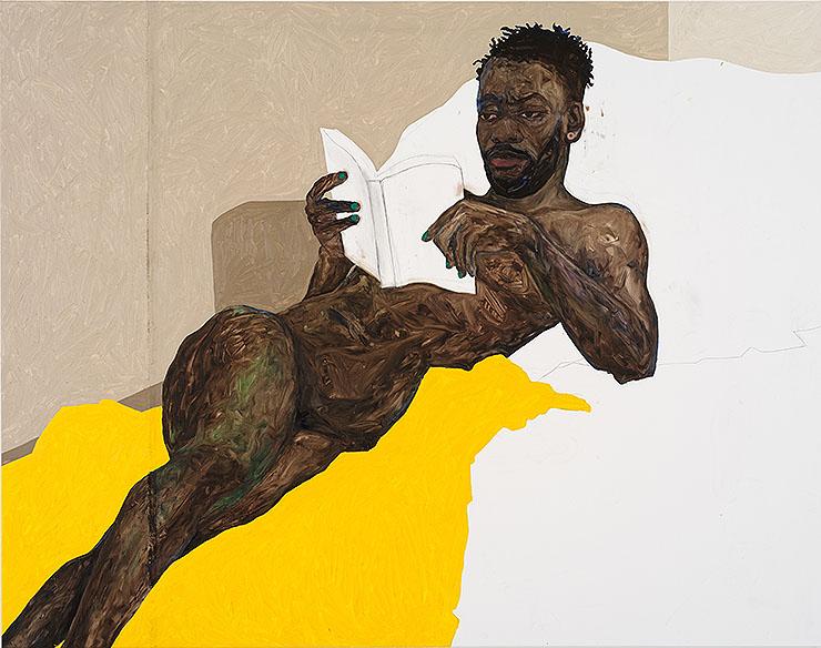 Amoako Boafo - Yellow Blanket, 2018